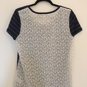 Halogen Tops - Halogen Navy top with lace back